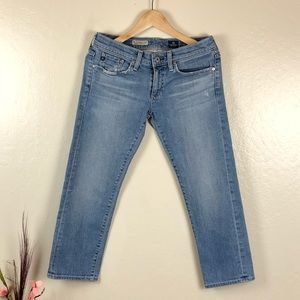 AG the Tomboy Crop Relaxed Straight Crop Jeans